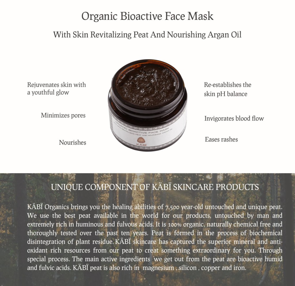 Peat Face Mask